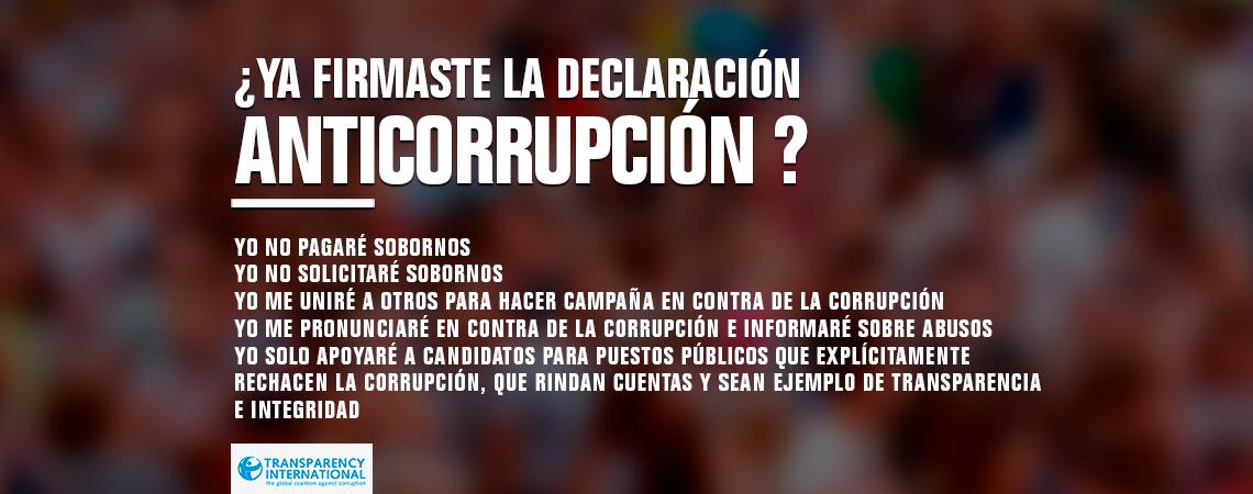 Declaración de Anticorrupción