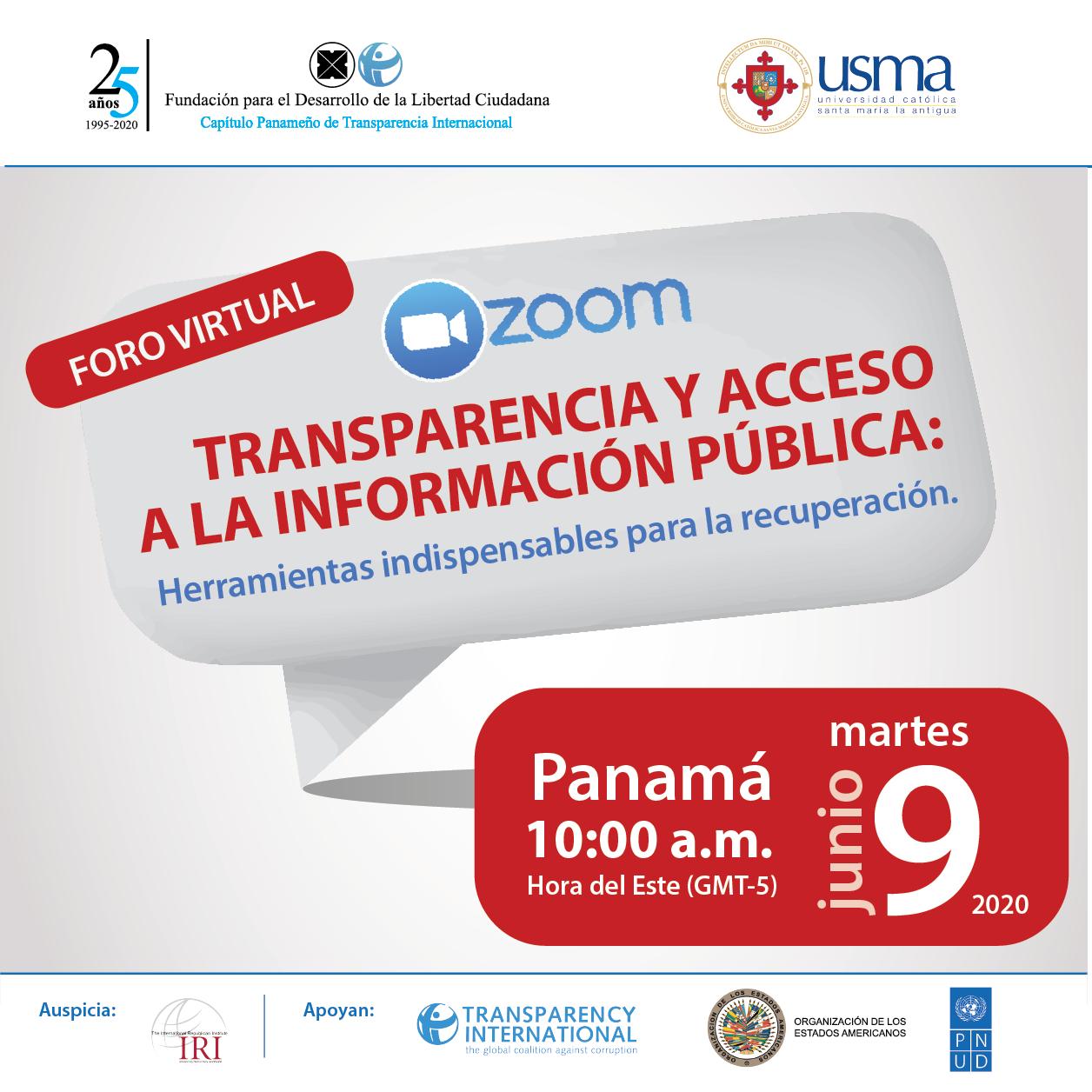 """12 lecciones aprendidas durante foro""""Transparencia y acceso a la información pública: herramientas indispensables para la recuperación"""""""