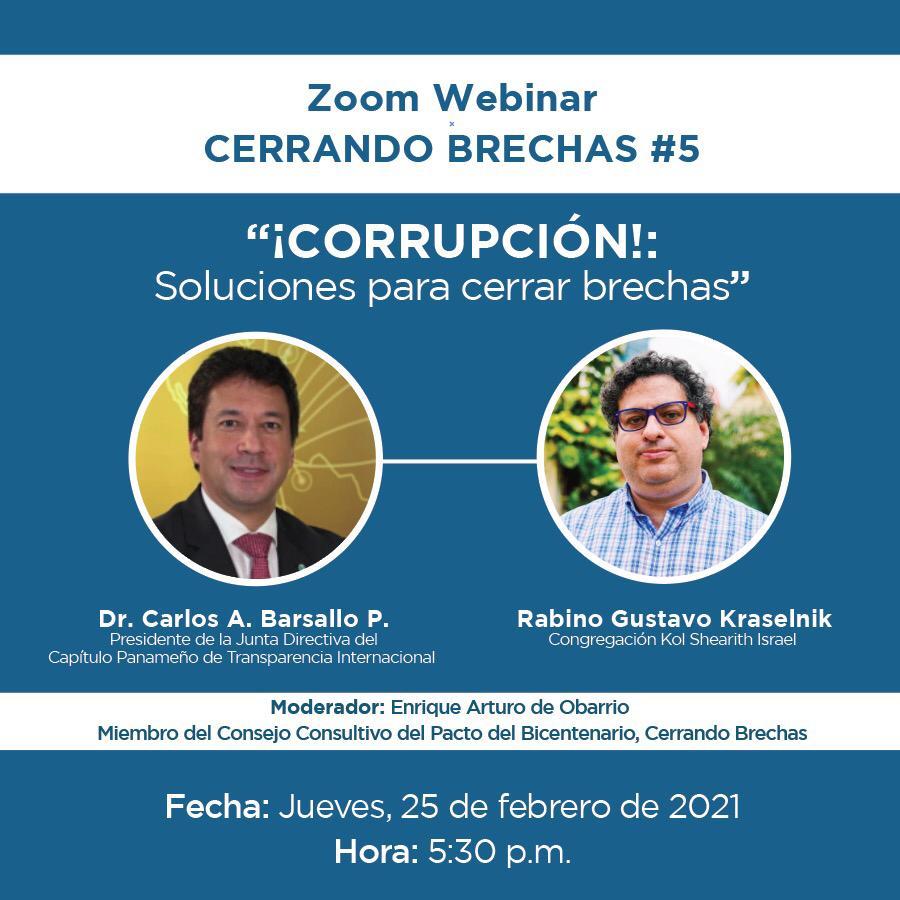 """""""¡CORRUPCIÓN!: Soluciones para cerrar brechas"""""""