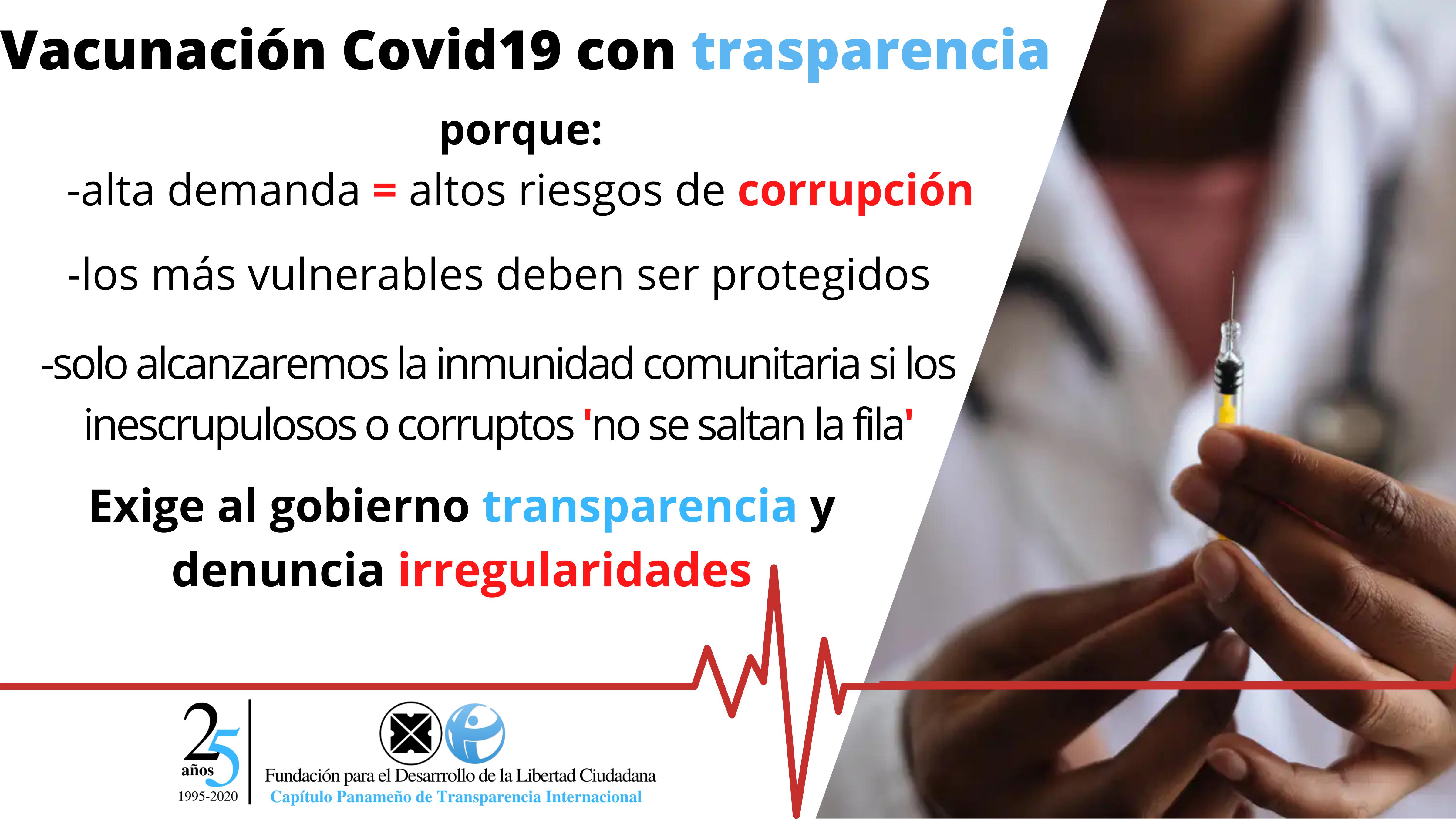 Vacunas y anticorrupción: pedimos a ANTAI que aplique Ley de Transparencia  al MINSA