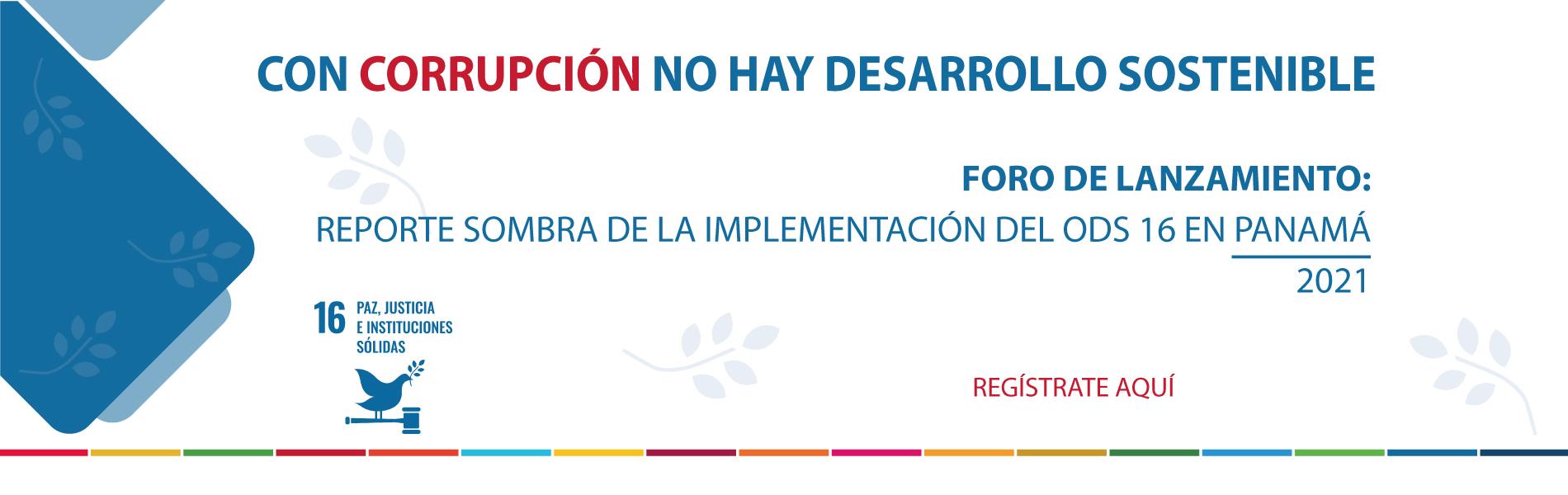 Lanzamiento del Reporte Sombra para el ODS 16