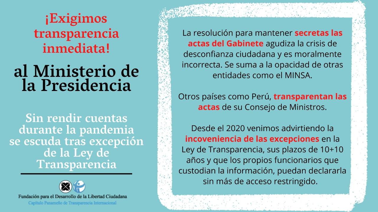 ACTAS SECRETAS: RETROCESO EN LA TRANSPARENCIA GUBERNAMENTAL
